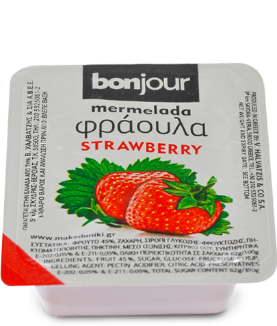 Fruit Jam Bonjour Strawberry 20gr Makedoniki